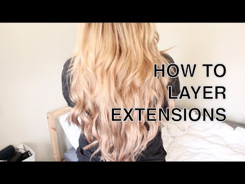 HOW TO Cut Amp Layer Hair Extensions YouTube