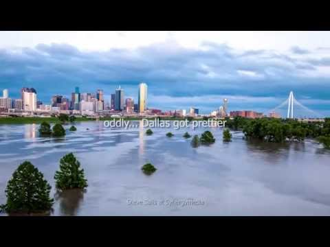 Dallas May 2015 flood story with aerial and time lapse video