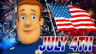 Fireman Sam US NEW Episodes | FIREWORKS! | 4th July Safety Collection | Cartoons for Children