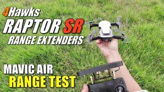 4Hawks RAPTOR SR & OD Mavic Air Range Extenders - Full Flight (Range) Test Review & Comparison