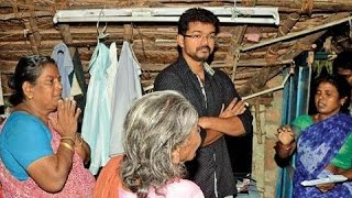 Vijay visits his dead fans' houses to console | Puli Movie