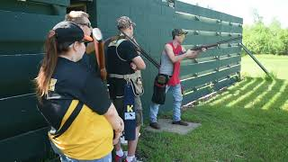 Practice for the Jackson County Clay Target Shooting Team
