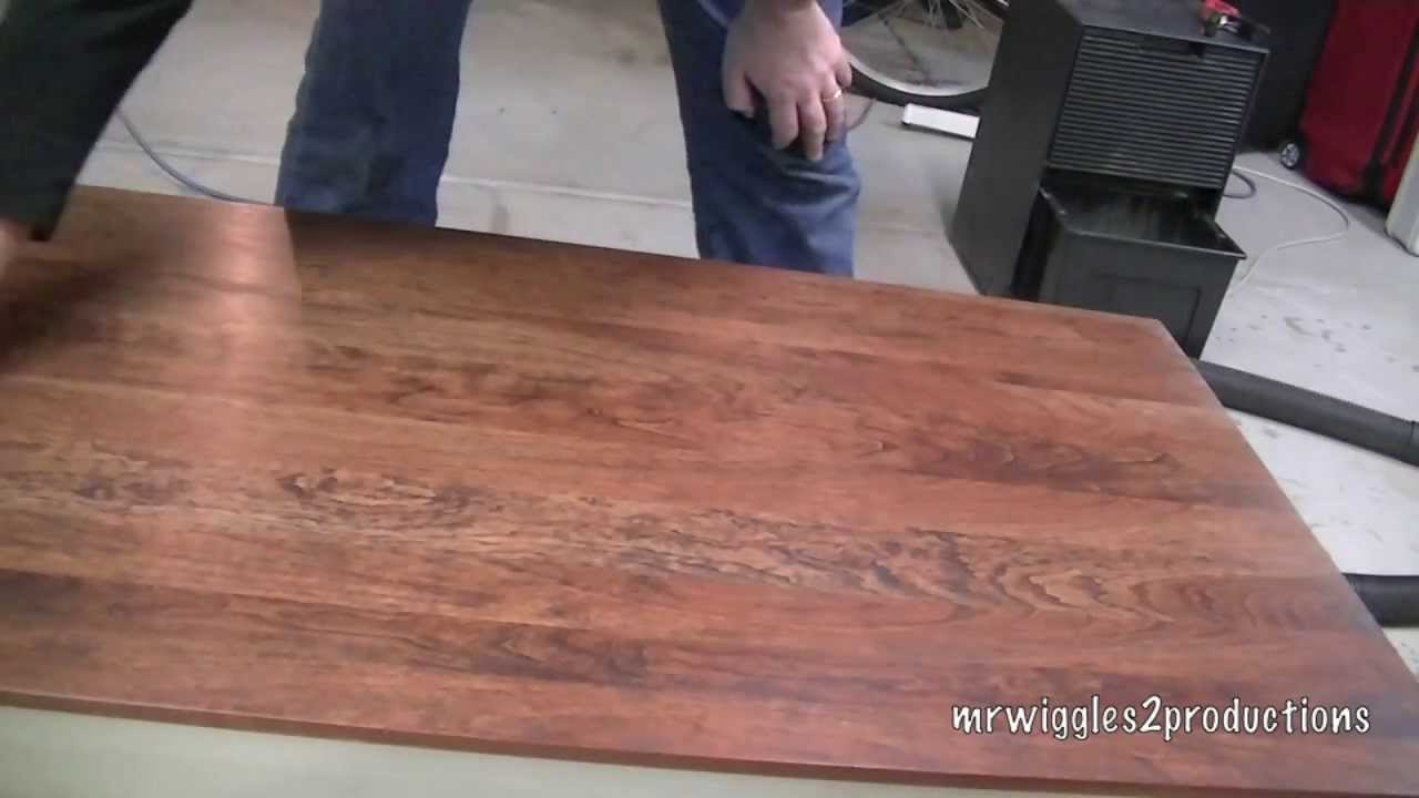 Refinishing A Wood Table Youtube