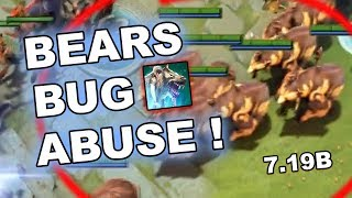 7.19b - Bears Dota 2 BUG ABUSE - Epic Comeback! (Not Fixed)