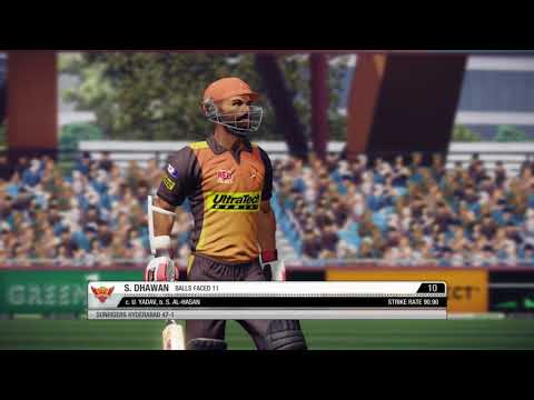 Don Bradman Cricket 14 IPL match no 3 on PS4 (SRH VS KKR)