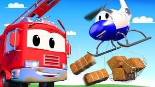 đội xe tuần tra - Cuộc thi nâng tạ - Thành phố xe 🚗 những bộ phim hoạt hình về xe tải