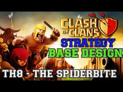 TH8 Defensive Base Review & Replays - The SpiderBite   Clash