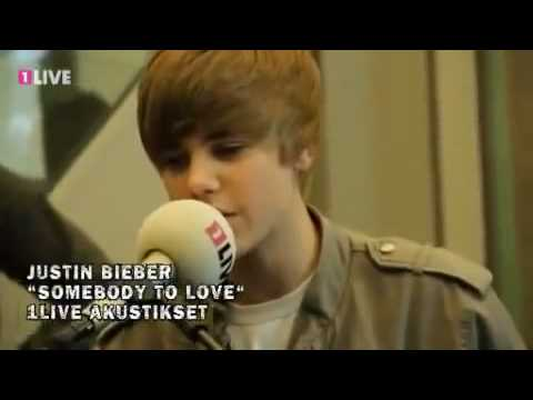 Justin Bieber - Somebody To Love - 1Live Acoustic Set - May 20, 2010 - Cologne, Germany