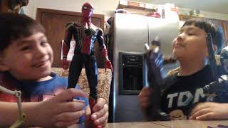 Thanos and spider Man only avegers infinity war toys