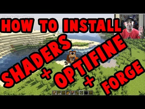 How to Install Shaders + OptiFine + Forge : Minecraft Tutorial 1.12