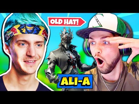 Ninja Reacts To Ali-A Clickbait using NEW Spider Knight Skin | Fortnite Daily Funny Moments Ep.227
