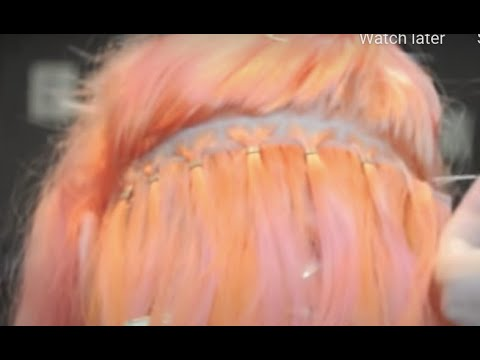 Non Sewn Beaded Weft Extensions at Glo Salon