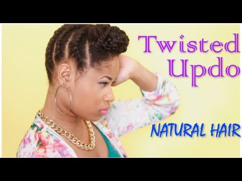 Fall Ready TWISTED UPDO | Natural Hair Tutorial