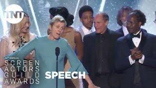 Three Billboards Outside Ebbing, Missouri: Acceptance Speech | 24th Annual SAG Awards | TNT