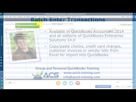 Batch Enter Transactions Improved for QuickBooks 2014