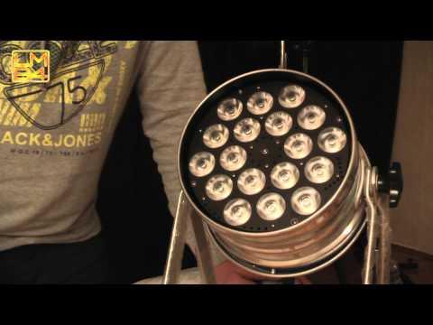 Video Test Involight LED Par 184 18x8w RGBW (QCL)