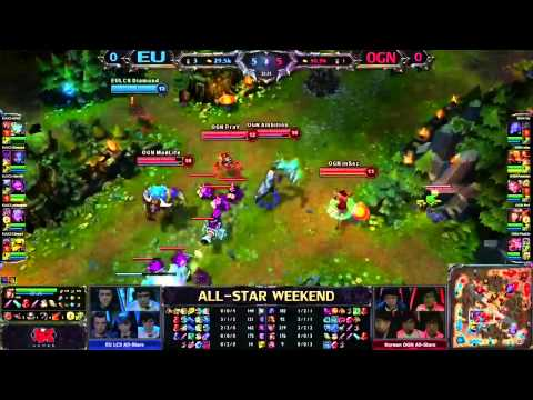 All-Stars 2013 Europe vs Korea Game 1 Highlights League of Legends LCS LoL Allstar Matchup