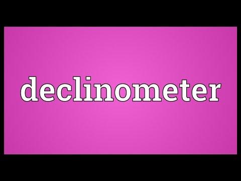Header of declinometer
