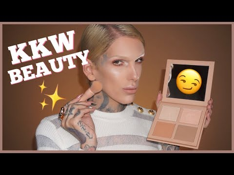 KIM K DRAMA?! KKW POWDER CONTOUR & HIGHLIGHT KIT REVIEW   Jeffree Star