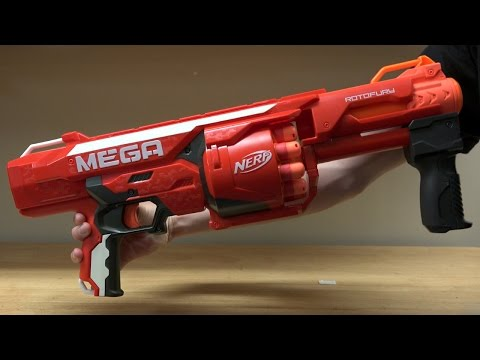 Nerf N-Strike Elite MEGA Rotofury Unboxing and Review