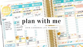 PLAN WITH ME - May 18th to 24th | Erin Condren Life Planner and Planner Kate Stickers