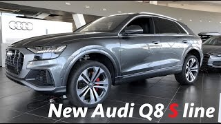 Audi Q8 S line SUV 2019 - first quick look in 4K