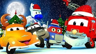 Car Patrol of Car City during CHRISTMAS - Police Car Cartoons & Fire Truck Videos for Kids