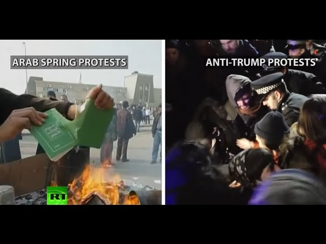 'We will rise up!' US outlet compares anti-Trump protests to Arab Spring
