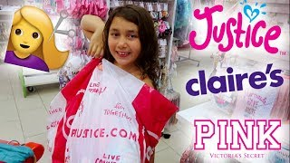 BACK TO SCHOOL HAiRCUTS + SHOPPiNG AT THE MALL! JUSTiCE, CLAiRE'S, PiNK + MORE!