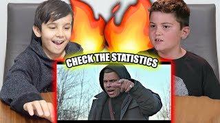 KIDS REACT TO CHECK THE STATISTICS Ft. RiceGum (Logan Paul Fans)