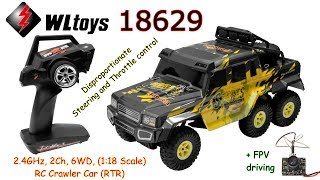 WLtoys 18629 2.4GHz, 2Ch, 6WD, (1:18 Scale) RC Crawler Car (RTR) + FPV driving