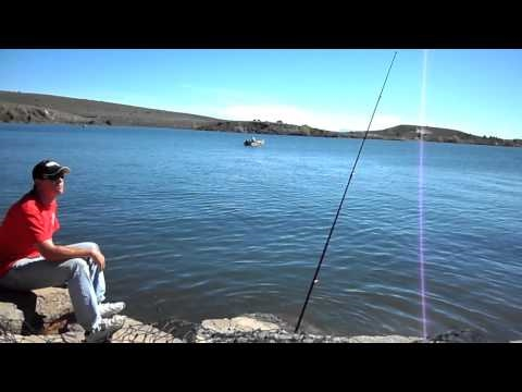 Lake Panguitch Utah Fishing Setup at the Dam