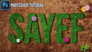 How to Create Realistic Grass Text Effect. ( Adobe photoshop Tutorial)