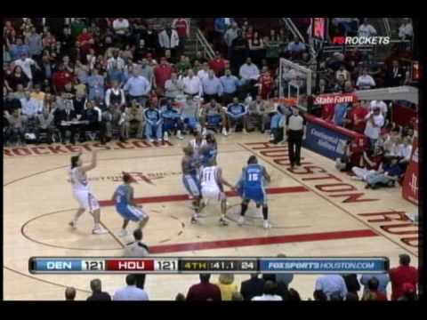 Rockets 4th Quarter Comeback vs. Nuggets 3/15/2010 Video