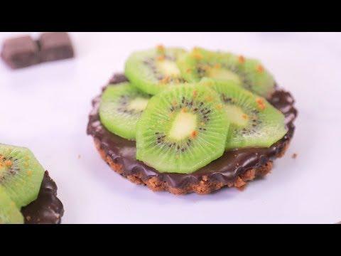 TARTELETTE au kiwi et chocolat, sans cuisson