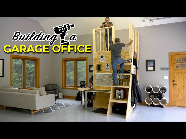 Building a fun and practical garage office thumbnail
