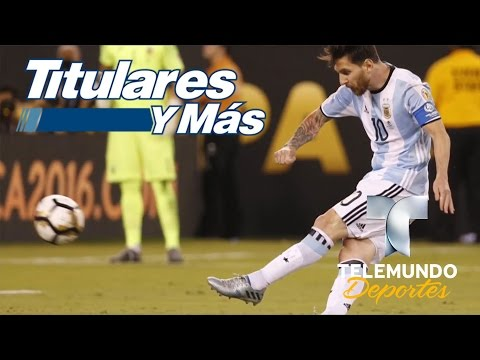 Lionel Messi anunció su renuncia a la selección Argentina   Titulares y Más   NBC Deportes