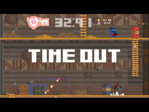 Super Time Force - XBOX ONE - 199X Stage COMPLETE GAMEPLAY [HD]