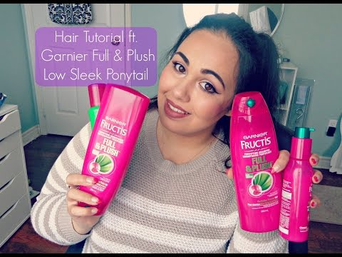 Hair Tutorial ft. Garnier Full & Plush   Sleek Low Ponytail