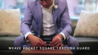 Creating a Perfect Pocket Square Puff Fold with Squareguard Holder & Silk Pocket Squares