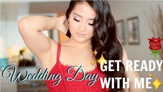 SOFT NATURAL GLAM MAKEUP TUTORIAL   WEDDING DAY GET READY WITH ME