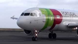 Very close Madeira Airport TAP Portugal Airbus A320 takeoff
