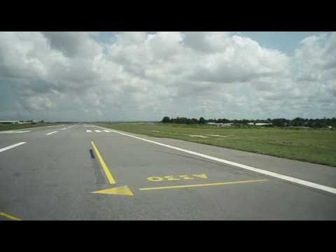 Boeing MD-82 Approaching, final, landing and taxi FCPP (Pointe-Noire, Congo)