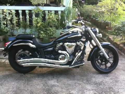 V Star 950 Vance and Hines Big Radius 2 into 2 PC (1st in Asia) Video
