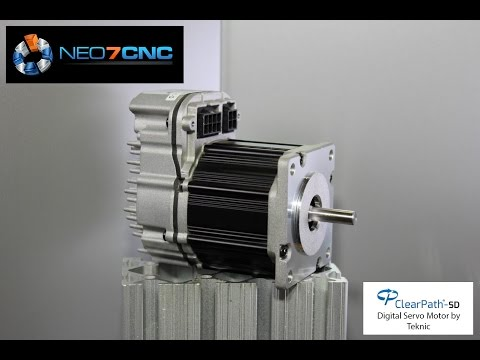 Homemade DIY CNC - (AUDIO Corrected) ClearPath Servo Motors used on KR33 CNC - Neo7CNC.com