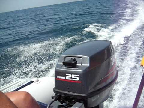 Bombard typhoon 420 yamaha 25hp 2stroke fantastic speed for 25hp yamaha 2 stroke