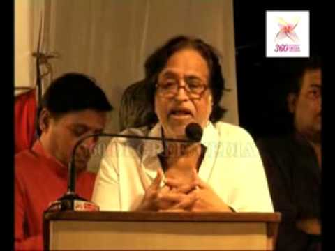 Singer Hridayanath giving a Speech at the Dinanath Mangeshkar...