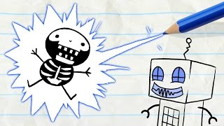 "A Shocking Surprise for Pencilmate! -in- ""Nuts and Bolts"" Pencilmation Cartoons"