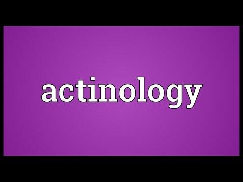 Header of actinology