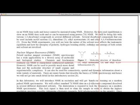 Keto-enol Equilibrium Using Nmr video